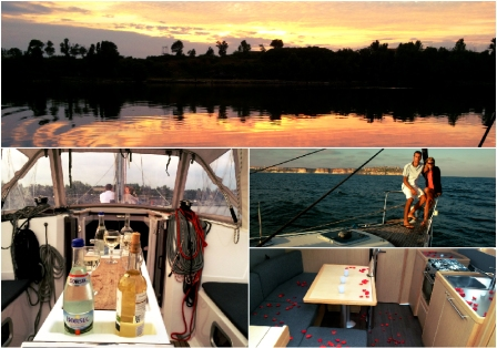 Romantic yachting